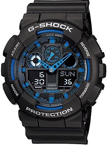 Relógio Casio G-shock Masculino Azul/preto Ga-100-1a2dr