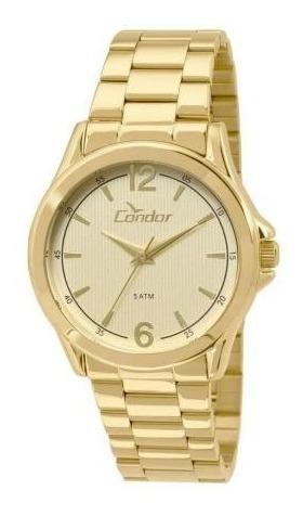 Relógio Dourado Feminino Condor Co2035kos/4x Original.