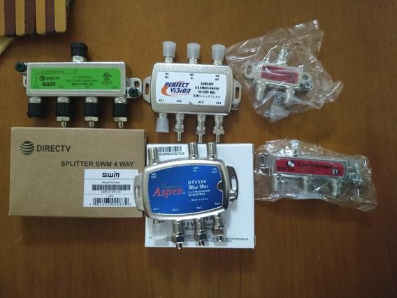 Conectores Y Splitter Divisor Tv Por Cable 2 3 Y 4 Vías