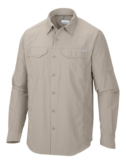 Camisa Hombre Columbia Silver Ridge Ii Titanium Manga Larga