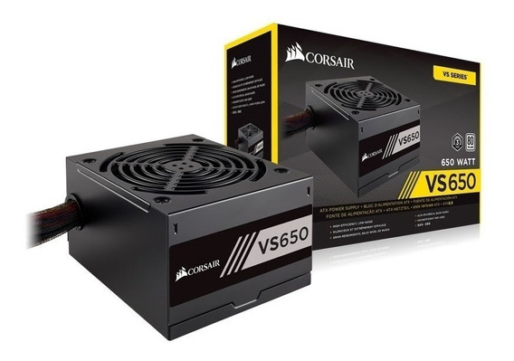Fonte Corsair Vs650 650w 80 Plus White Pfc Ativo Bivolt