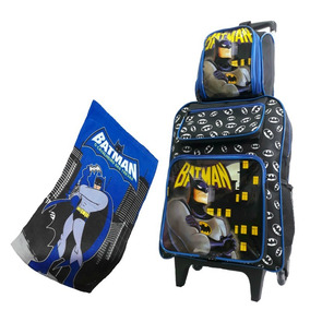 Mochila Escolar Masculina Batman Rodinhas Infantil Grde
