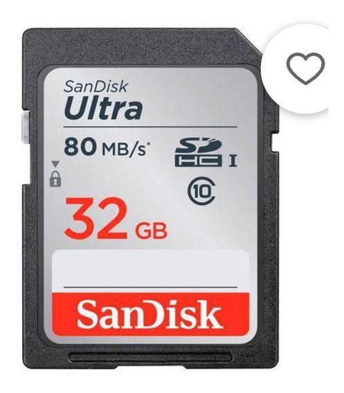 10 Cartões De Memória Sandisk Originais Nikon, Canon, Fuji