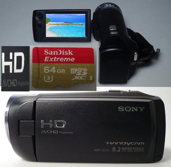 Filmadora Sony Hdr-cx240 Full Hd Alta Definição De Imagem