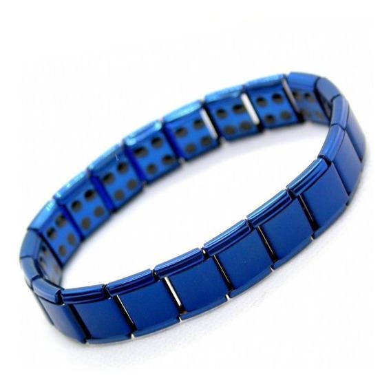 Pulseira Magnética Energética Bracelete Turmalina Aço Inox