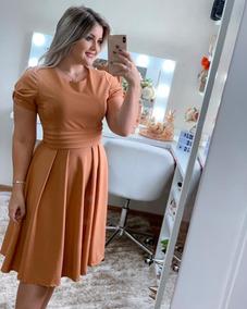 Vestido Rodado Modesto Moda Evangélica Alfaitaria Gode Fem