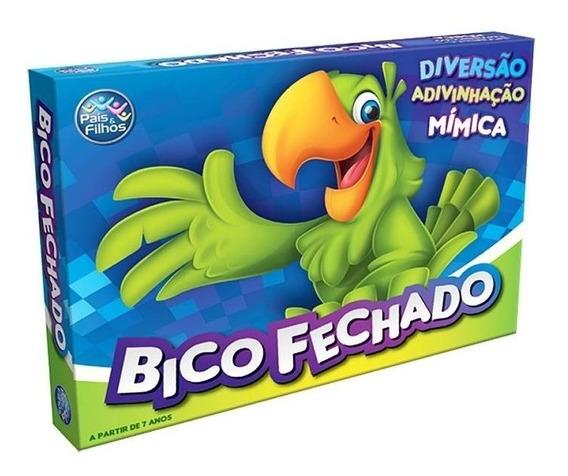 Jogo Bico Fechado Pais E Filhos Mimica Adivinhaçao 7358 !