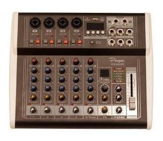 Consola Mixer Potenciada Parquer 6 Canales 125 X Lado Cuota