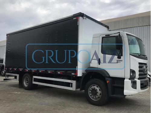 Caminhão Com Baú Sider Vw 17.190 Robust 20/21
