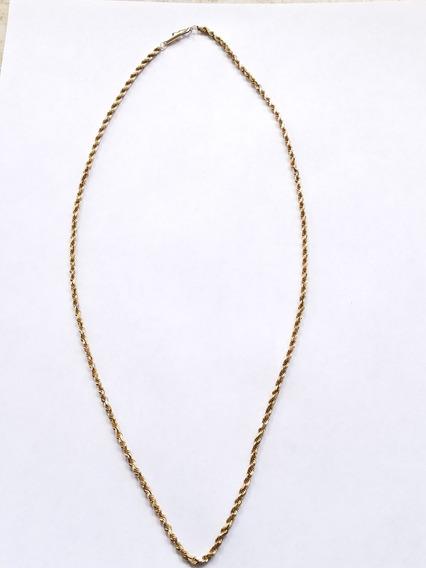 Cadena Torzal Oro 10k Pesa 16.1 Gramos Mide 58cm De Largo