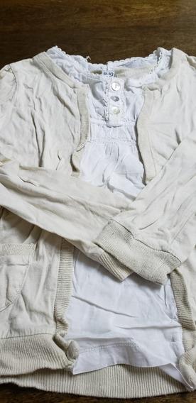 Camisola C/ Saquito Todo Junto En 1 Zara Talle 10 Años