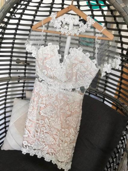 Vestido De Novia Civil Importado Bordado