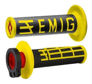 Puños Odi Mx V2 Lock-on Emig Grip 4 Tiempos