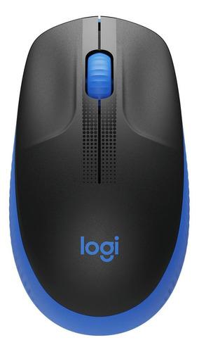 Imagem 1 de 3 de Mouse sem fio Logitech  M190 azul