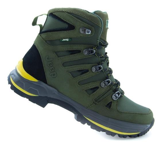 Botas Footwear Caballero Jeep 4107 Verde 100% Originales