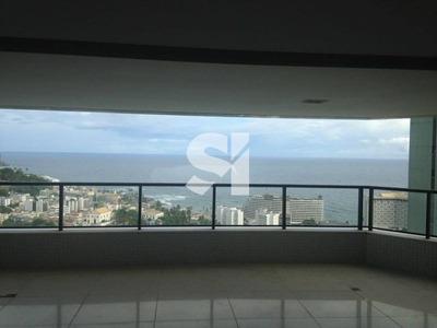 Espetacular Três Suites , Varandão Com 60,00m² Área 278 M² Vista Mar Em Ondina! - Sl0785