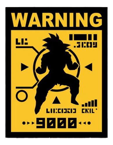Placa Decorativa Criativa Nerd Geek Anime Over 9000 V2