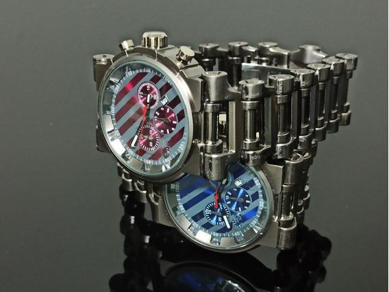 Relógio De Pulso Diferente Minuto Modelo Redondo Luxo