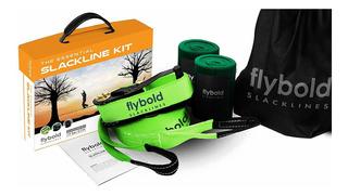 Flybold Slackline Kit Con Línea De Entrenamiento Protecto