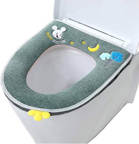 Almofadas De Cobertura De Assento De Toalete Laváveis Par