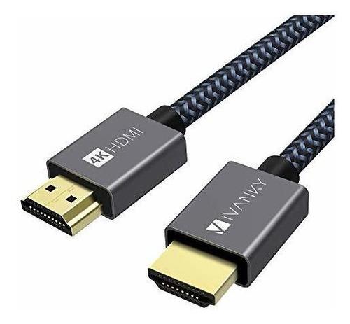 Cable Hdmi 4k De 3.3 Pies, Cable Hdmi 2.0 De Alta Velocidad