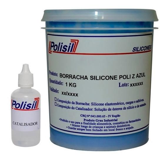 Borracha De Silicone Azul P/moldes Placas De Gesso 1,030 Kg