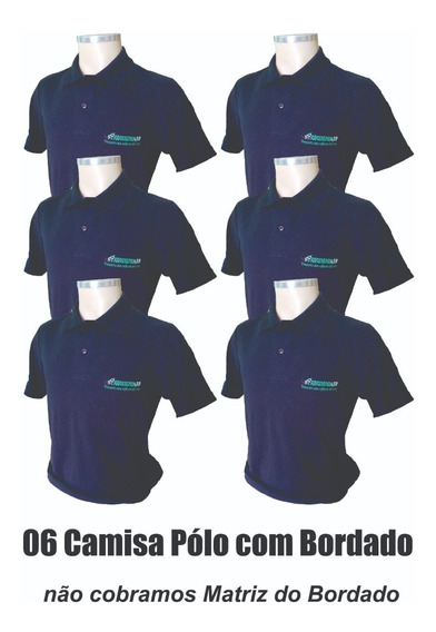 06 Camisas Polo Uniforme Profissional Bordado Logomarca