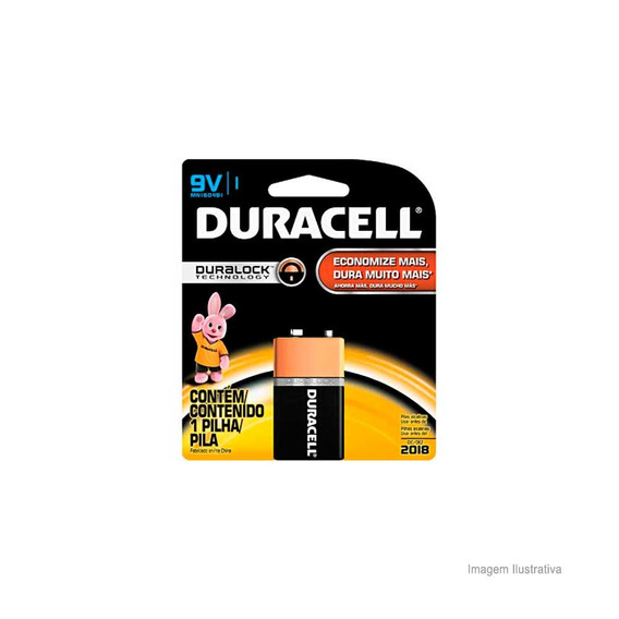 Bateria Alcalina 9v Duracell Duracell