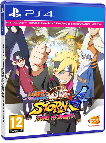Naruto Storm 4 Road To Boruto Ps4 Midia Fisica Novo Dublado