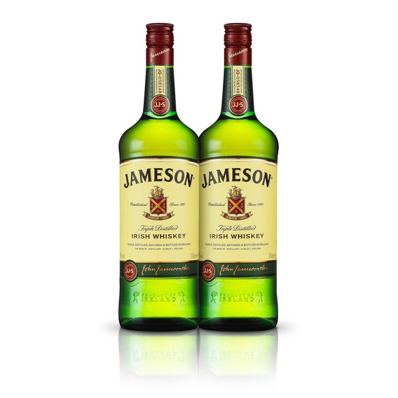 Kit Whisky Jameson 1l - 2 Unidades