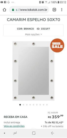 Espelho Camarim 50 X 70 Horizontal E Vertical Com Lâmpadas
