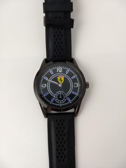 Relógio Masculino Ferrari Preto Silicone- Frete Grátis !!
