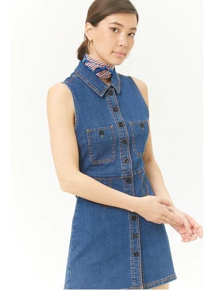 Vestido Jean Forever 21 Original