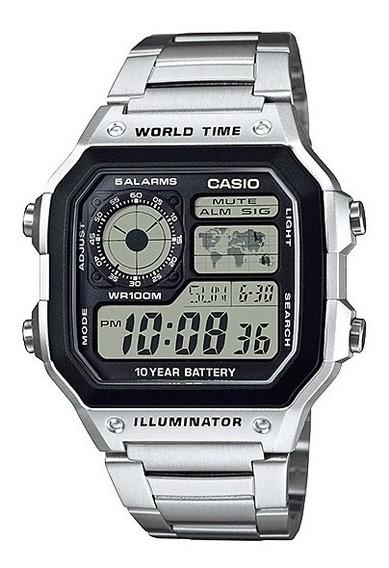 Relógio Casio Masculino Standard Ae-1200whd-1av Prata