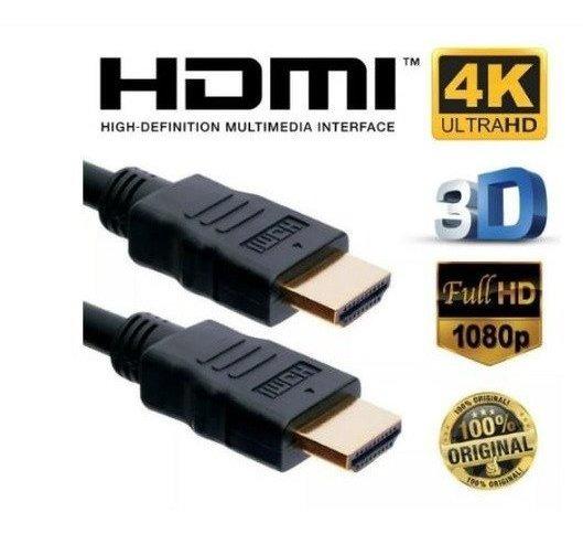 Cabo Hdmi 10 Metros 4k 2.0 Ultra Hd Tv Notebook Pc Ultra Hd 1080p Alta Resolução 19 Pinos Ps4 Xbox 360 Ponta Dourada