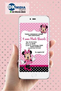 Convite Digital Minnie Rosa