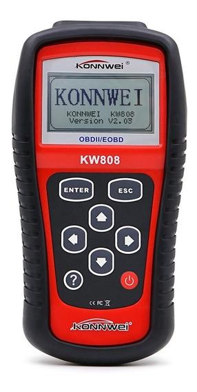 Herramienta Para Diagnóstico De Auto Konnwei Kw808 Obd2 Rojo