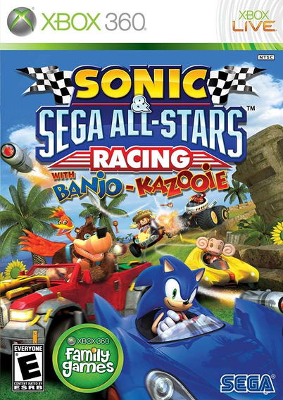 Sonic E Sega All-stars Racing With Banjo-kazooie - Xbox 360