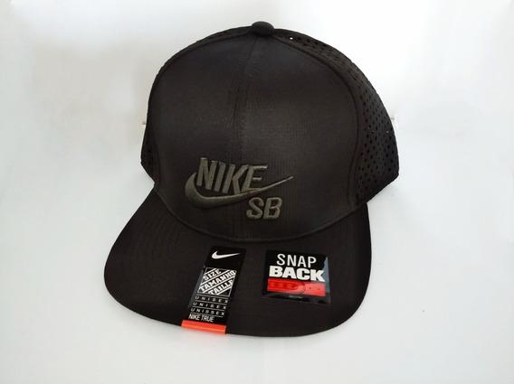Mareblu Gorra Plana Marca Nike Original Color Negro