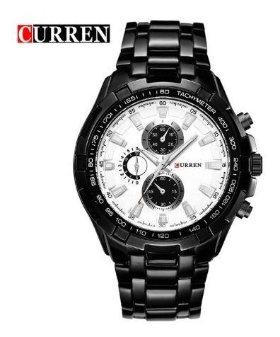 Relógio De Quartzo Masculino De Aço 8023 Curren