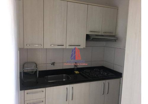 Apartamento Com 3 Dormitórios À Venda, 60 M² Por R$ 220.000 - Residencial Colina Azul - Parque Universitário - Americana/sp - Ap0781