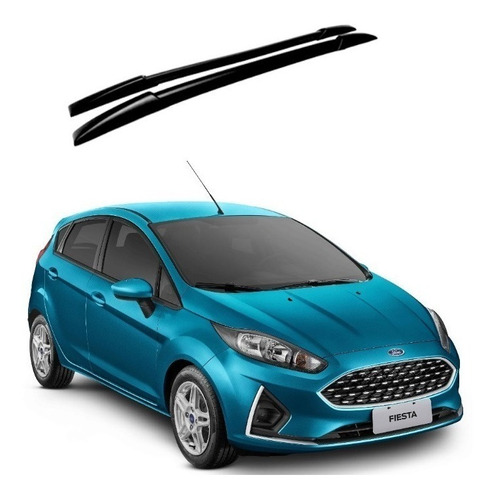 Imagem 1 de 2 de Longarina De Teto Decorativa Preta Ford New Fiesta