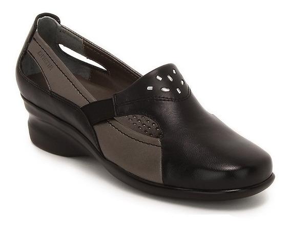 Zapatos Onena 4230 Dama Negro Con Gris O Cafe Ancho Doble 2x