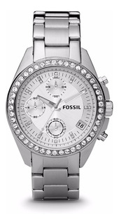 Reloj Fossil Decker Es2681 Dama Plateado Acero Inoxidable