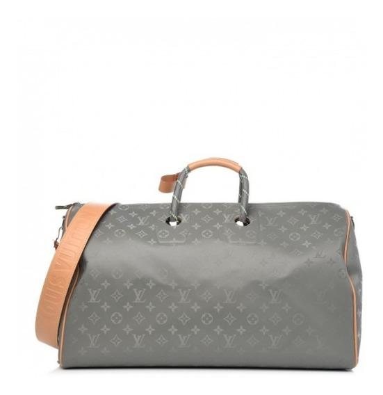 Mala Keepall Titanium 50 Bandouliere Louis Vuitton Premium Top Com Código Série Acompanha Alça E Dust Bag Envio 24 Hr