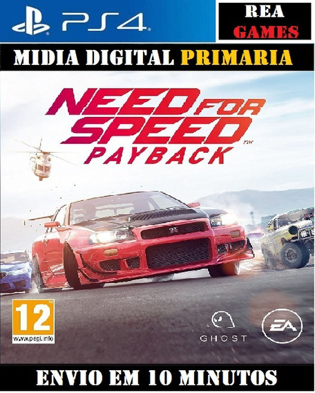 Need For Speed Payback Ps4 Digital Original 1º Pt-br