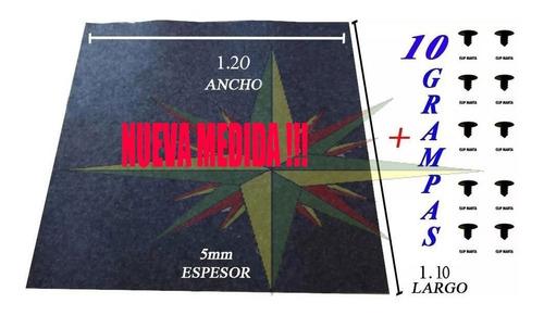 Placa Manta Antiruido Aislante Bajo Capot 1.25 X 1.25mt + Grampas (filtro)