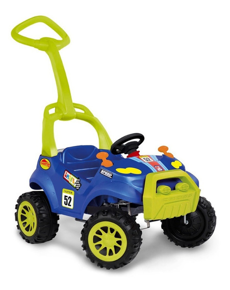 Carrinho Smart Passeio Com Pedal - Azul - Bandeirante