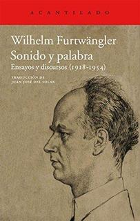 Sonido Y Palabra, Wilhelm Furtwangler, Acantilado