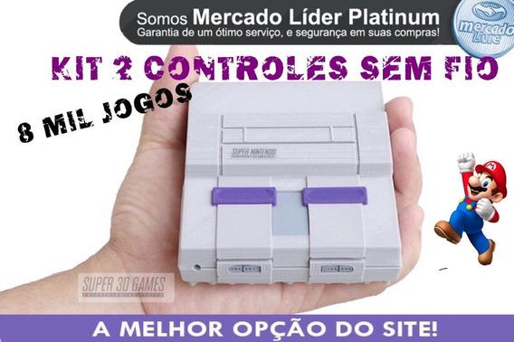 Mini Super Nintendo 2 Cnts Sem Fio 8 Mil Jogos. + Ps1 + N64.